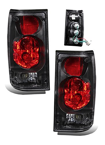 SPPC Black Euro Tail Lights Assembly Set for Toyota Pickup - (Pair) Includes Driver Left and Passenger Right Sid (1990 Toyota Parts)