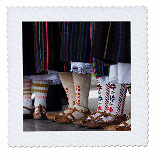 [Danita Delimont - Festivals - Bulgaria, Bansko, ski resort, people in local ethnic costumes - 8x8 inch quilt square] (8 People Costumes)