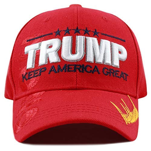 The Hat Depot Exclusive Trump Keep America Great/Make America Great Again 3D Signature Cap ()