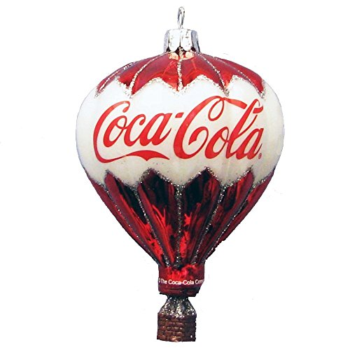 Kurt Adler Coca-Cola Glass Balloon Ornament, 3.5-Inch (Glass Air Balloon Hot)
