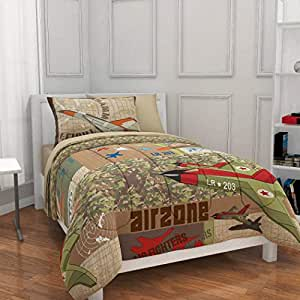 Amazon Com 5pc Boy Green Brown Camouflage Airplane