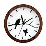 "Kaimao 4.7"" Retro Bell Alarm Clock with Silent Movement and Loud Alarms for Kitchen / Bedroom / Living Room / Office---Brown"