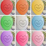 Angel & Dove 25 Rainbow Mix'Forever In Our Hearts' Funeral Balloons - Premium Quality Biodegradable Latex - for Remembrance, Condolence, Celebration of Life