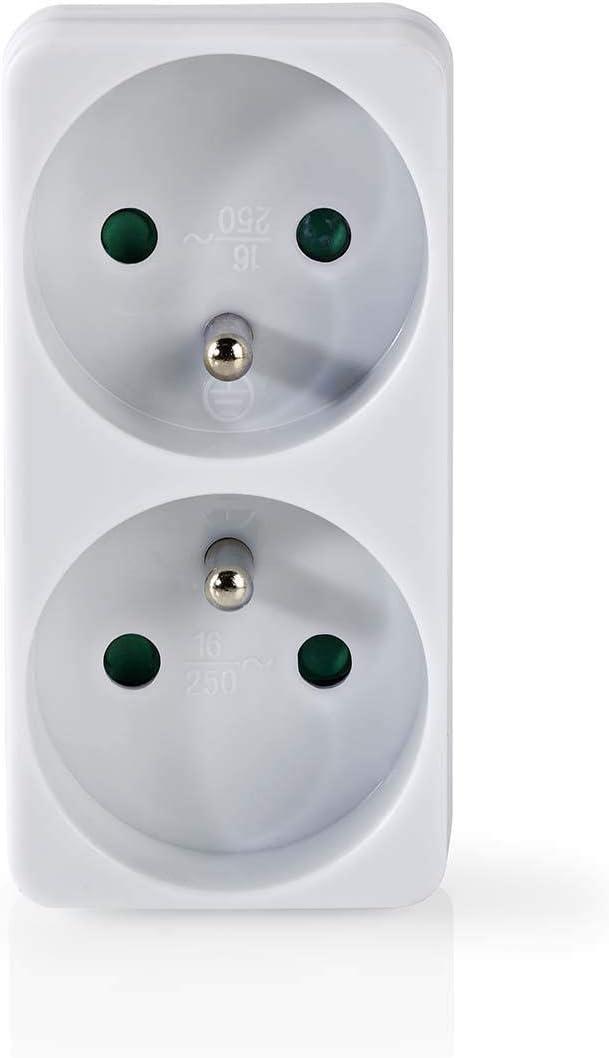 Nedis Power Socket Splitter 2-Way Euro socket White psspl 200C1WT