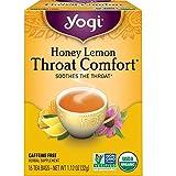 Yogi Tea - Honey Lemon Throat Comfort (6 Pack) - Soothes the Throat - 96 Tea Bags Total