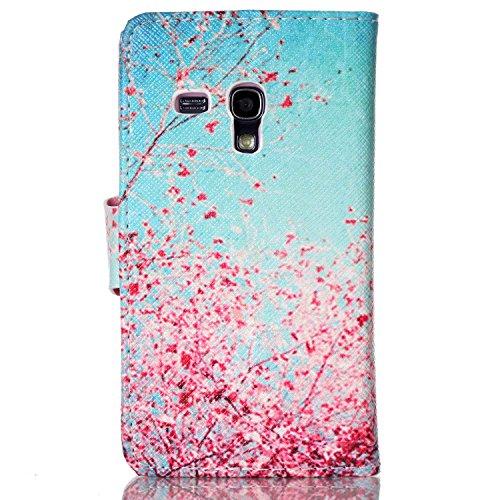 Leder Hülle für Samsung Galaxy S3 Mini,Blumen Hülle für Samsung Galaxy S3 Mini,Glitzer Hülle für Galaxy S3 Mini,Galaxy S3 Mini Leder Handy Wallet Tasche Flip Cover Etui Case,EMAXELERS Galaxy S3 Mini H Animal 1