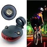 BlackC Home Flashing Lamp Light 5 LED+2 Laser Rear Cycling Bicycle Bike Tail Safety Warning