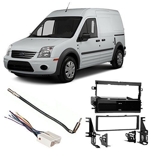Fits Ford Transit Connect 2013 SDIN Aftermarket Harness Radio Install Dash Kit