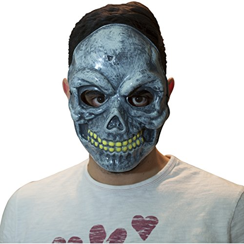 [The Mask Biz Skeleton PVC Mask] (Funny Bones Skeleton Costume)