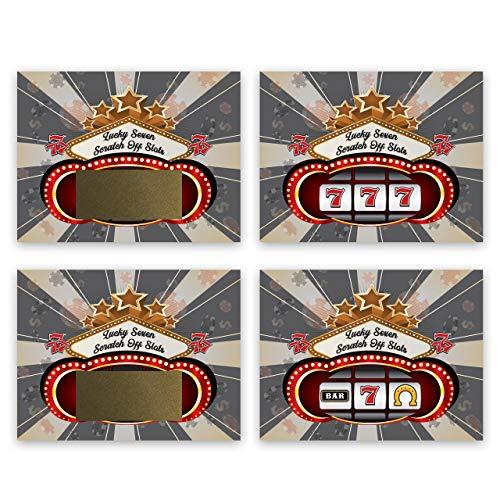 My Scratch Offs Casino Night Scratch Off Game Cards - 25 Pack (Slot Machine Scratch Off)
