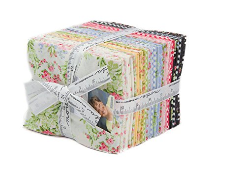 Moda Fabrics Guernsey Florals By Brenda Riddle 30 Piece Fat Quarter Bundle 18640AB by Moda Fabrics