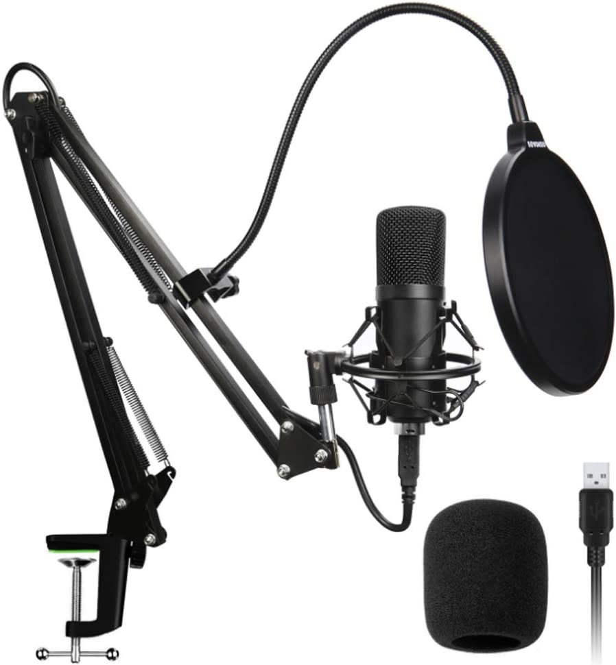 YYZLG Kit de micrófono USB, 192 khz / 24 bits de alta tasa de muestreo de alta frecuencia para ordenador, micrófono Bm800, juego de micrófono