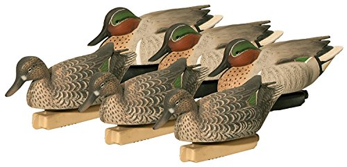 - Final Approach FA Gunners Hd Green-Wing Teal Decoys, 6 Pack