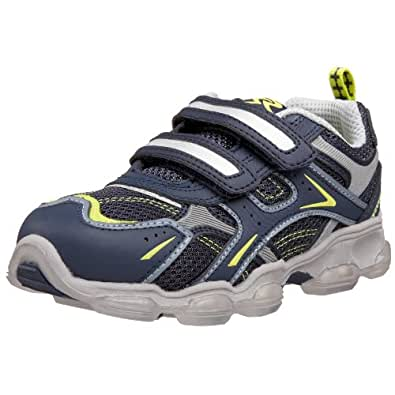 Stride Rite Toddler/Little Kid Light-Up Sorren Sneaker,Navy/Silver/Ooze,8 M US Toddler
