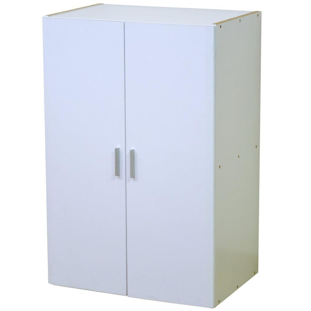 システムリビング収納 壁面収納 中段板扉タイプ 幅60cm ホワイト FS-111WH B00F5NU3I6
