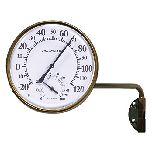 AcuRite Wireless Indoor/Outdoor Brass Thermometer Model # 04010SBL