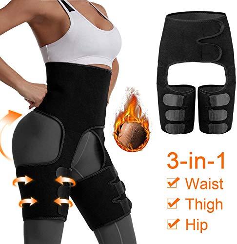 Waist Trainer for Women, 3 in 1 Slimming Support Belt Lift Butt Hip Enhancer Thigh Trimmers Lifter Shaper Waist Slimming for Women Weight Loss