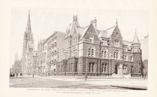 Residence of Mr. Harry Payne Whitney, 5th Avenue and 57th Street - 1898 - 5th Avenue Street 57th