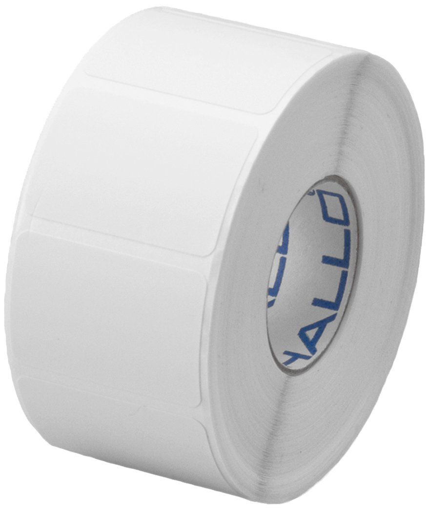 サーマル上質紙ギャップラベル 四角 HALLO 30T20SG 強粘 サイズ:幅30mm/×長さ20mm 1巻810枚 無地 新盛インダストリーズ 10巻入り