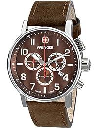 Men's 01.1243.102 Commando Chrono Analog Display Swiss Quartz Brown Watch
