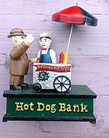 Amazon.de: Spardose Sparbüchse Trinkgeldkasse Hot dog Stand ...