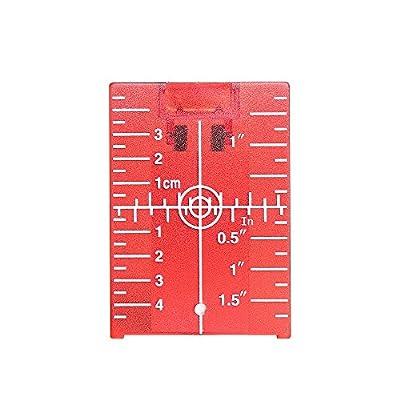 Huepar Red Magnetic Floor Target Plate with Stand for Levelsure 360 Self-Leveling Laser Level