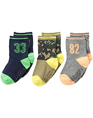 Carter's Baby-Boys Newborn 3 Pack Camo Sport Socks