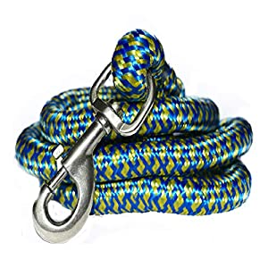 Pawzone Giant and Strong Dogs Heavy Rope Leash with Hook (22 mm, Colour May Vary)