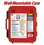 First-Aid-Kit-Hard-Red-Case-326-Pieces-Exceeds-OSHA-and-ANSI-Guidelines