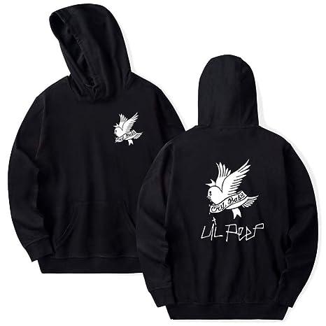 LOVEYF Unisex Spring Hoodie Hooded Hooded Sudaderas Pullover Lil Peep Cry Baby Bird Hip Hop Rapper