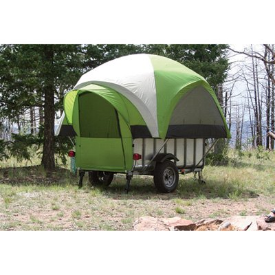 LittleGiant TreeHaus Camper Tent Sleeps 4 and Utility Trailer