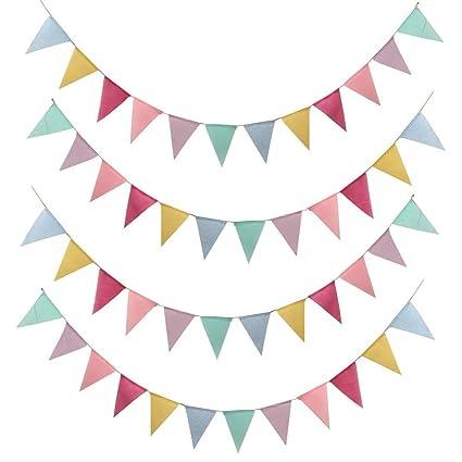Wimpelkette Geburtstag Girlande Geburtstagsdekoration Partydeko Partyzubehör