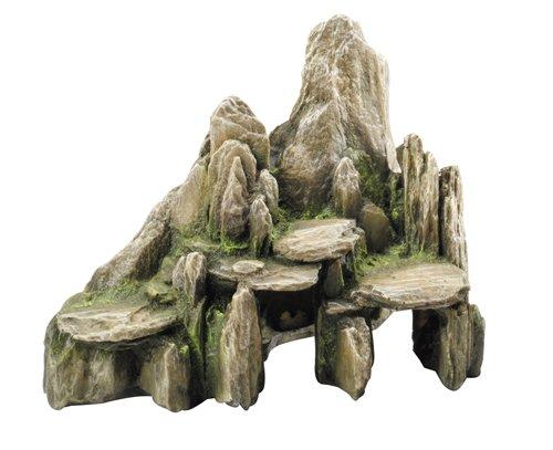 Aqua Della Stone Slate Decoration Rock, 25.5 x 15.5 x 20cm, Moss by Aqua Della