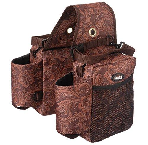 (Tough-1 Printed Saddle Bag Brown Tooled)