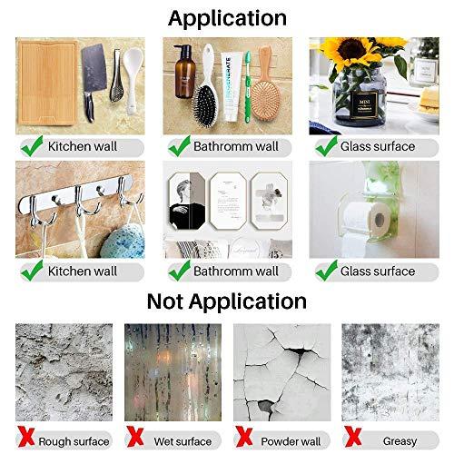 Double Sided Nano Adhesive Tape,Washable Traceless Nano Gel Tape,Multipurpose Magic Nano Grip Tape Roll,Stick to Glass, Metal, Kitchen Cellphone,Pads or Tile Nano Magic Tape 3m