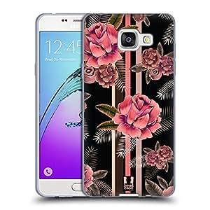Head Case Designs Floral Black & Pink Soft Gel Case for Samsung Galaxy Note5 / Note 5