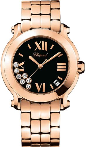 Chopard Happy Sport Edition 2 Ladies Rose Gold Diamond Watch 277472-5004