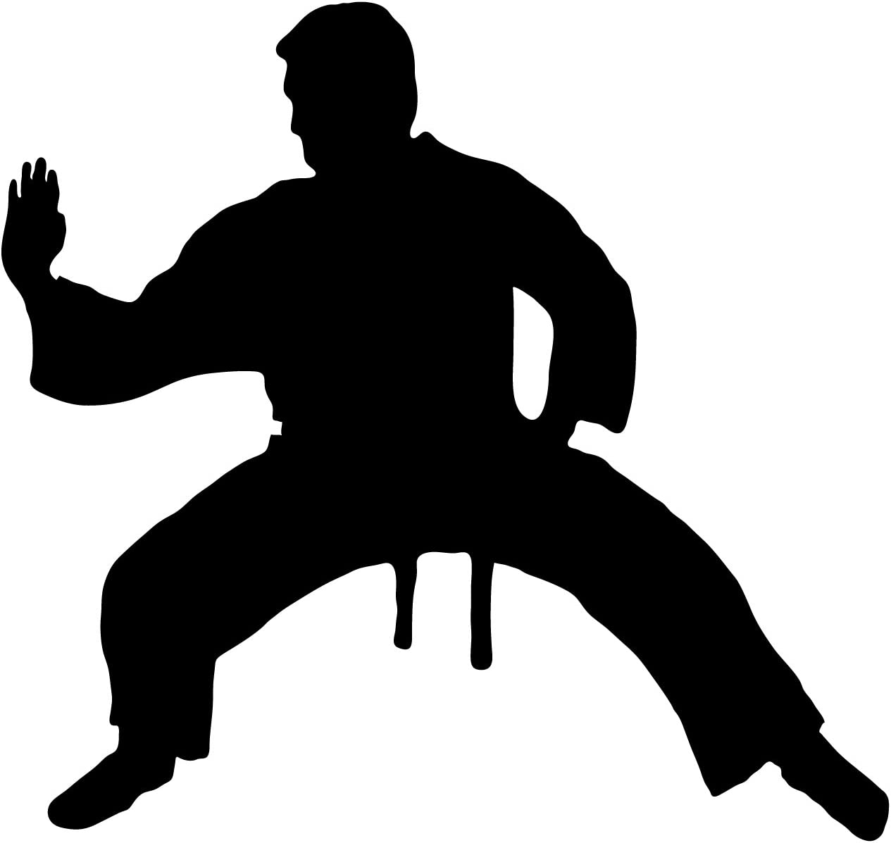 Martial Arts Wall Decal Sticker 16 - Decal Stickers and Mural for Kids Boys Girls Room and Bedroom. Karate Sport Wall Art for Home Decor and Decoration - Martial Art Kung Fu Taekwondo Silhouette Mural