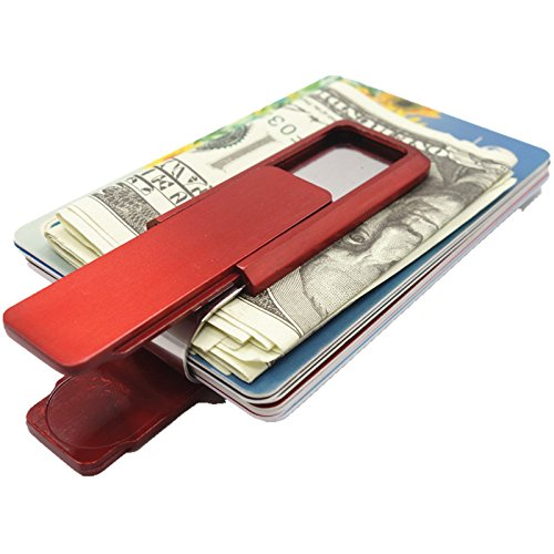 Organizer Card Simple Holder Red Fashion Stainless Money Clip Blue Steel Money Artmi 6nY4wZ8qx