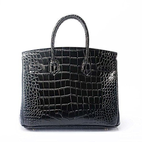 pour bracelet à Modèle d'épaule de cuir Cuir en main mode couleurs de Black Sac crocodile véritable véritable femme 5 avec wqXx0ZpxdB