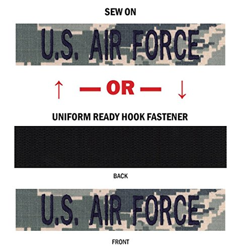 (Northern Safari Branch Military Name Tapes - Made in The USA! ABU, U.S. AIR Force with Regulation Blue Thread 4