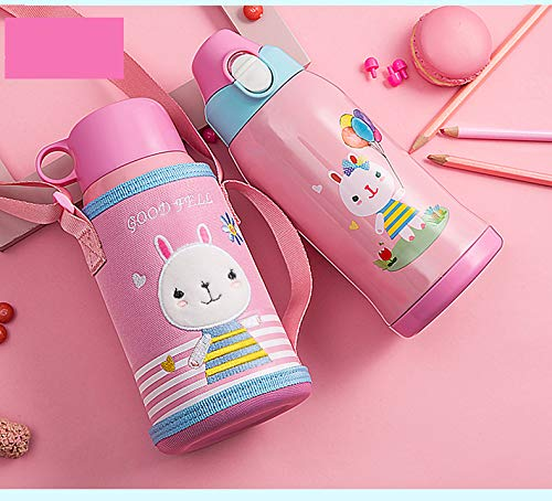 SHUANGZI Children's Thermal Cup with Pipette Bottle for Male and Female Pupils Anti-Falling Baby Kindergarten Cup(G02)