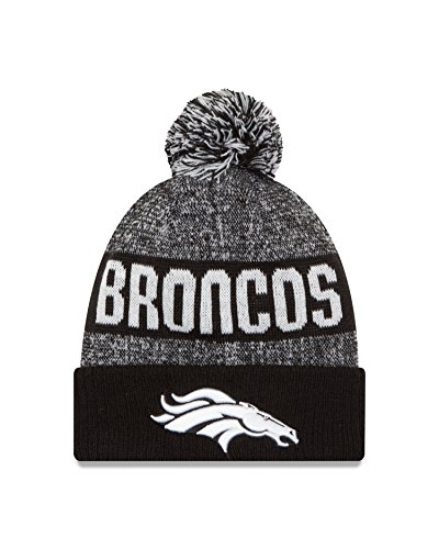 NFL Denver Broncos 2016 Sport Knit Beanie, One Size, Black/White