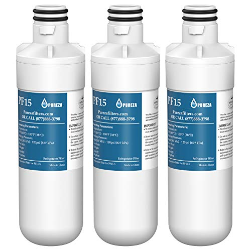 Pureza filters LT1000P Refrigerator Water Filter, Compatible with LG LT1000P, LT1000PC, LT-1000PC, MDJ64844601, Kenmore 46-9980, 9980, ADQ74793501, ADQ74793502, 3 PACK (Choosing The Best Home Water Delivery Service)