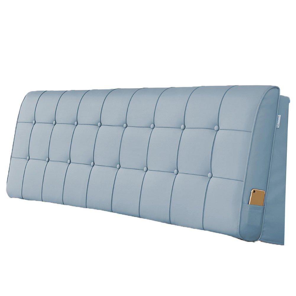 LIANGLIANG クッションベッドの背もたれ ダブルサイズベッドルームあり、5サイズ13色 (色 : ライトブルー, サイズ さいず : Length 200cm) B07FQKBBZQ Length 200cm ライトブルー ライトブルー Length 200cm