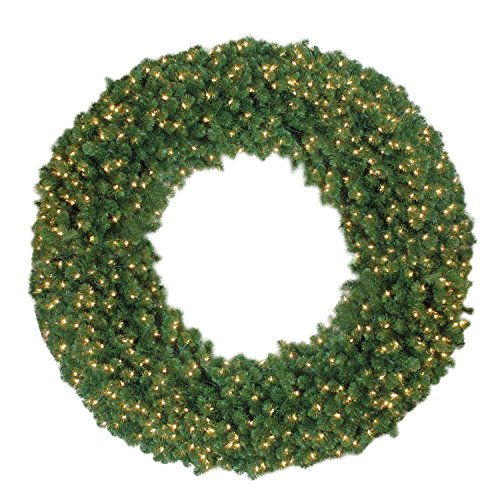 NORTHLIGHT NL03212 Clear Lights Olympia Pine Christmas Wreath, 6' by Northlight