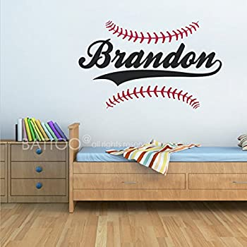BATTOO Personalized Baseball Name Wall Decal