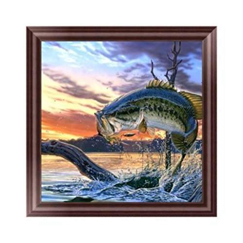 Wrisky DIY 5D Fish Diamond Embroidery Rhinestone Painting Cross Stitch Home Decoration