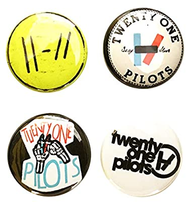 Twenty One Pilots - 1 Inch Button Set (4 Piece lot) - Band Concert Gear - Lock Pin