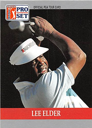 Lee Elder trading card (Golf Golfer PGA 1st African American Play Masters) 1990 Pro Set #98
